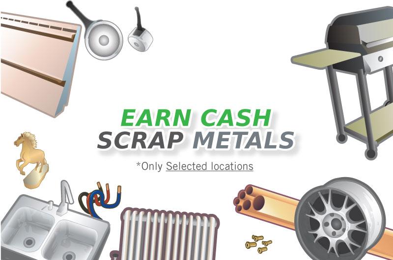 Earn Cash Scrap Metals