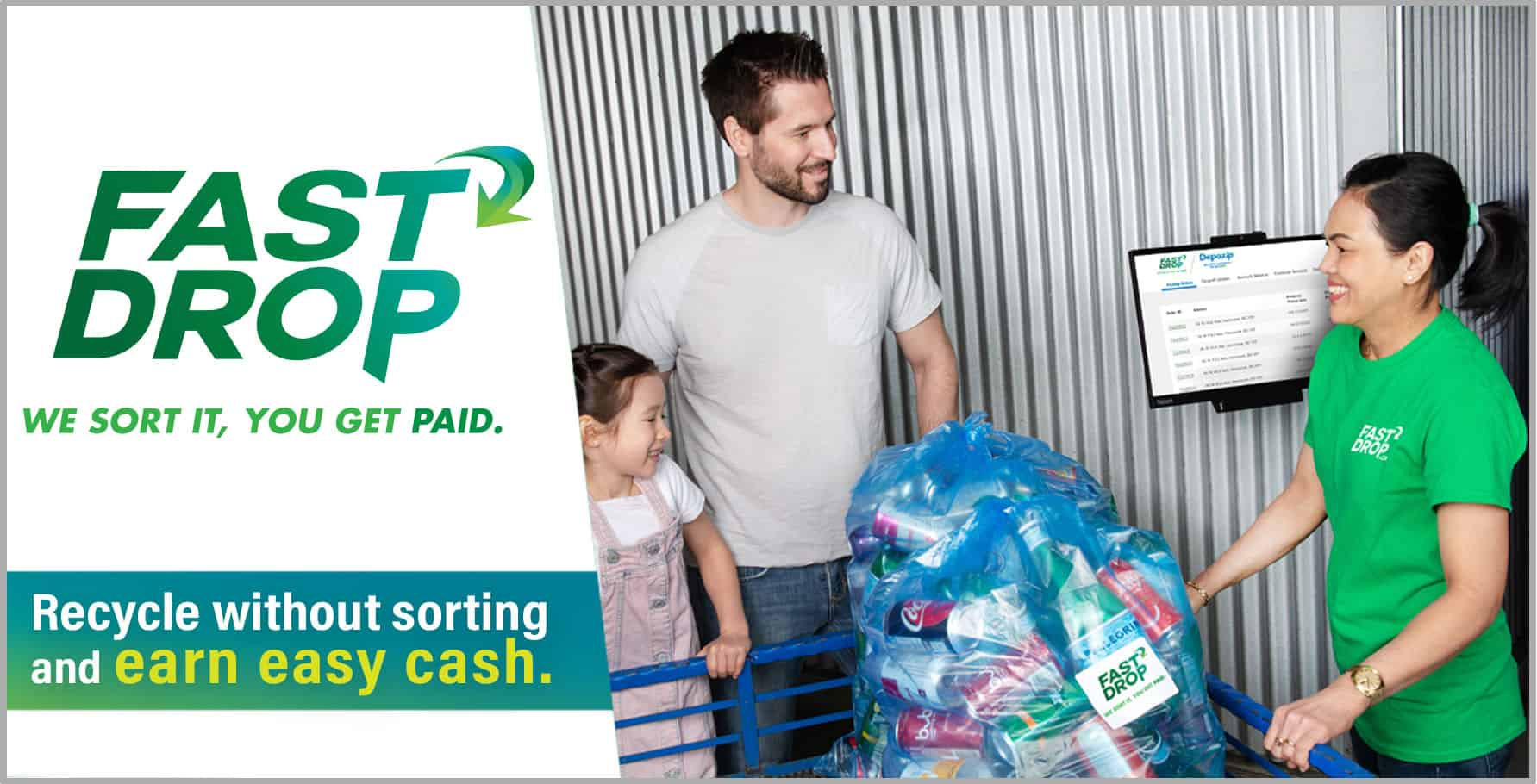 We offer a fast drop service for everyone who wants to recycle without sorting