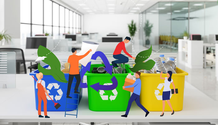 How's your team managing when it comes to sorting and recycling in the office?