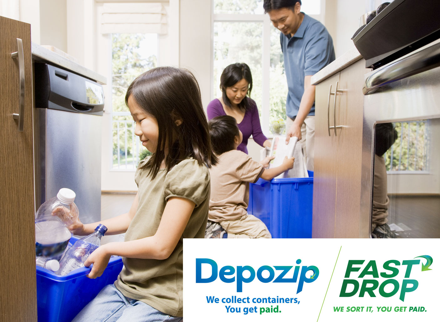 Depozip fast drop regional recycling